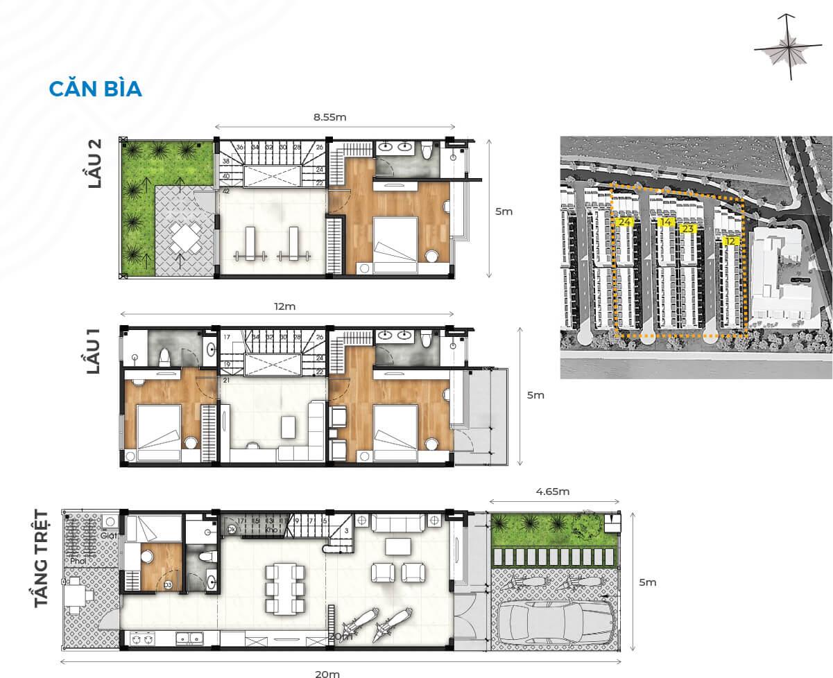 Nhà phố đảo thiên đường Valora Island - 100m2, giá 6.6 tỷ 2