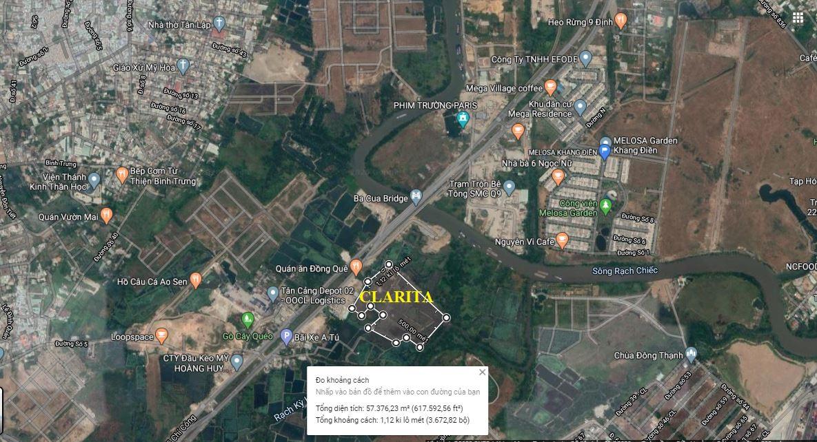Vi trí dự án Clarita Khang Điền QUận 2